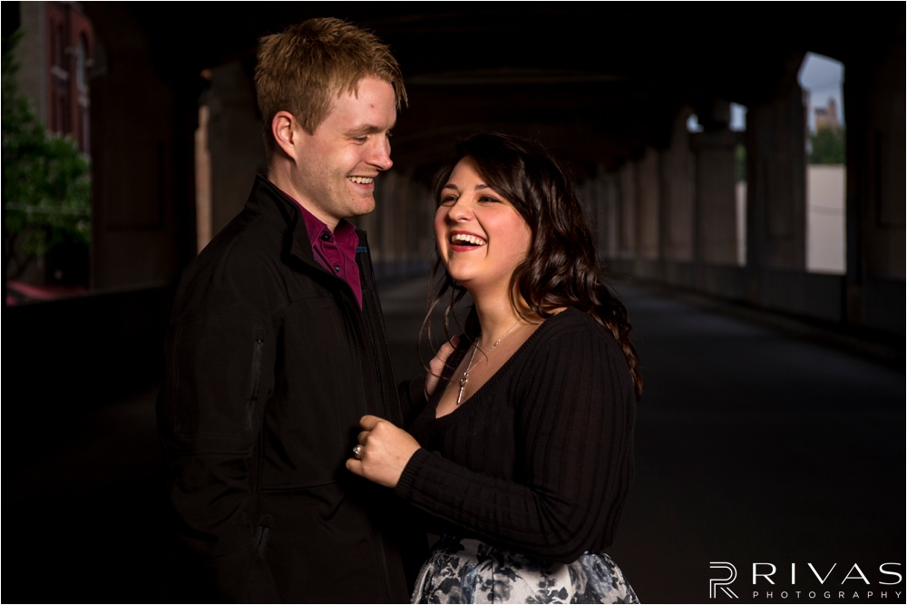 12th Street Bridge Engagement Session - Kansas City Engagement Pictures