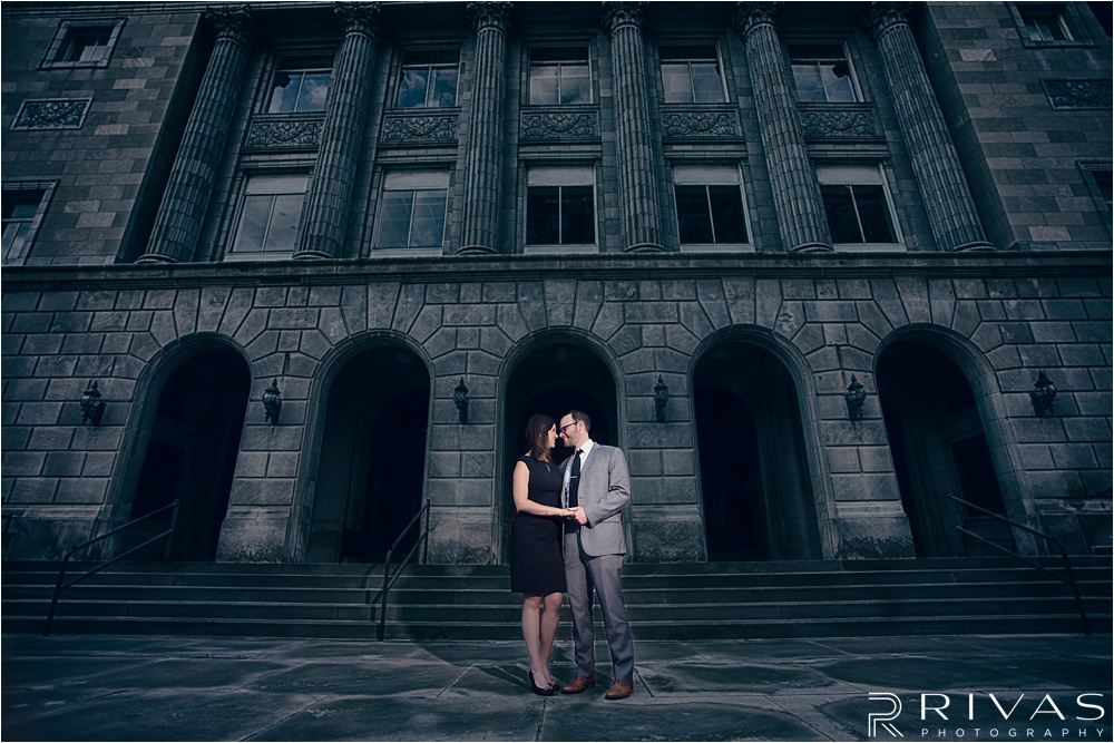 Kansas City Engagement Pictures - Classy Downtown KC Engagement Session