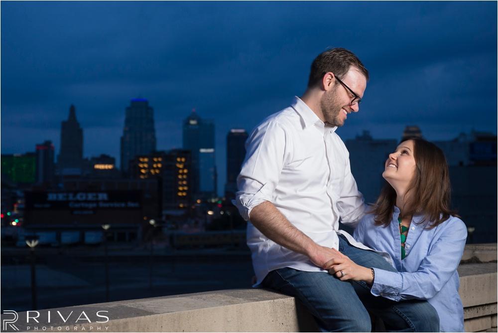 Kansas City Engagement Pictures - Classy Downtown KC Engagement Session