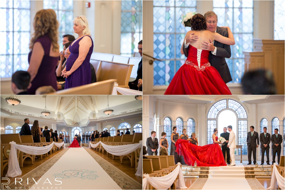 Kansas City Wedding Photographer | Classic Modern Orlando Wedding | Red Wedding Dress | White Tux | Hand-Binding Ceremony