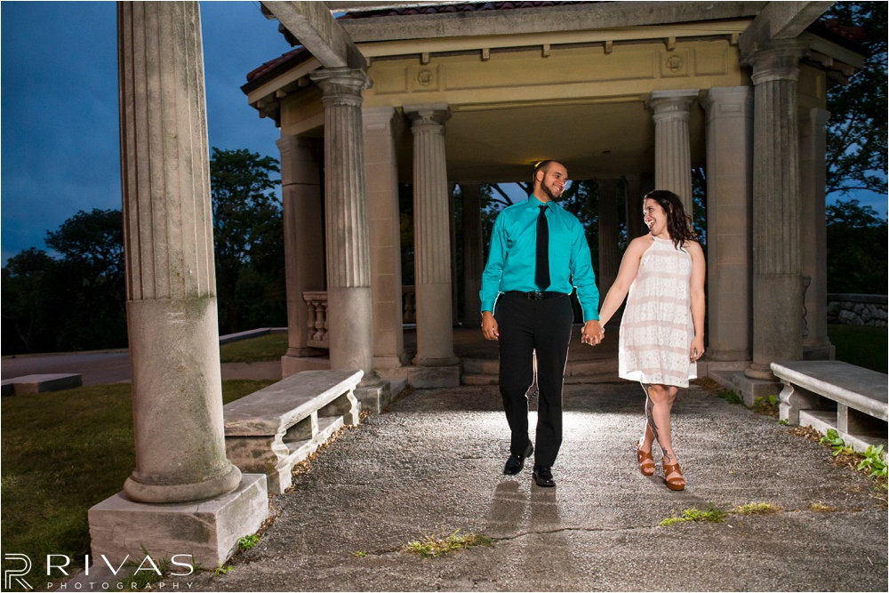 Kansas City Wedding Photography | stormy fall engagement pictures | KCMO