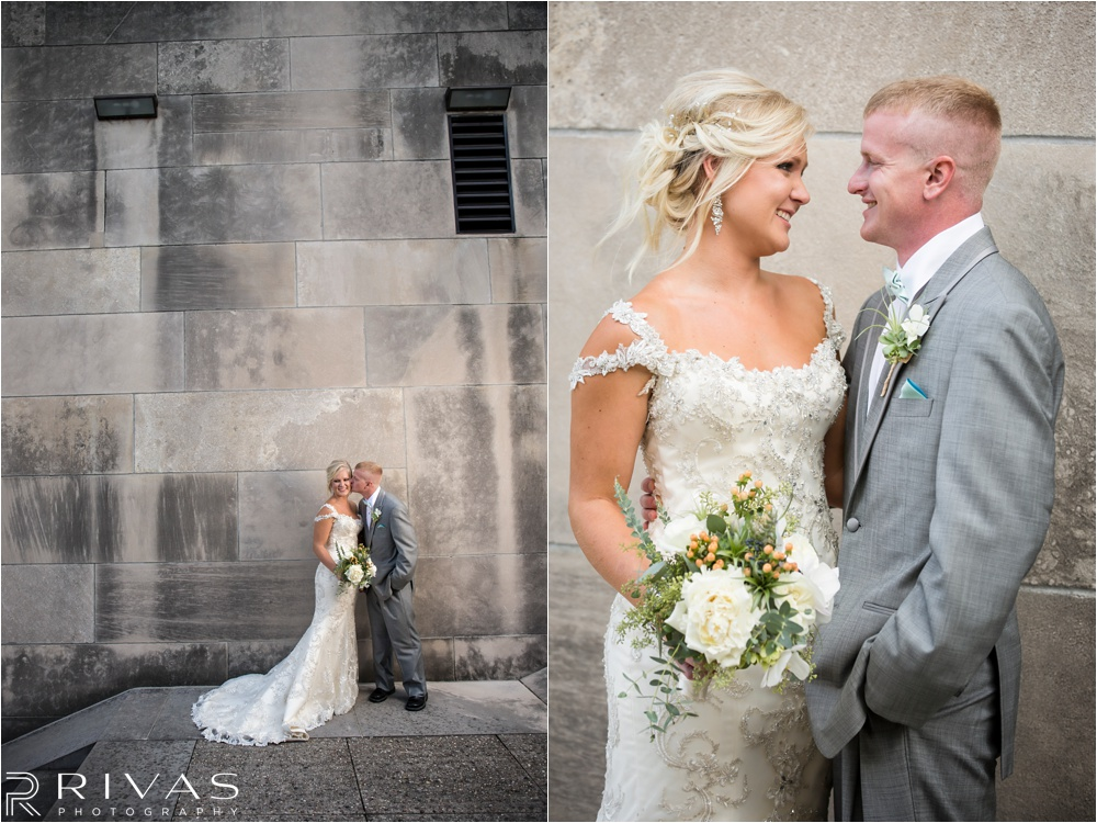 Kansas City Wedding Photographers | elegant Cellar 222 Wedding | Liberty Memorial First Look