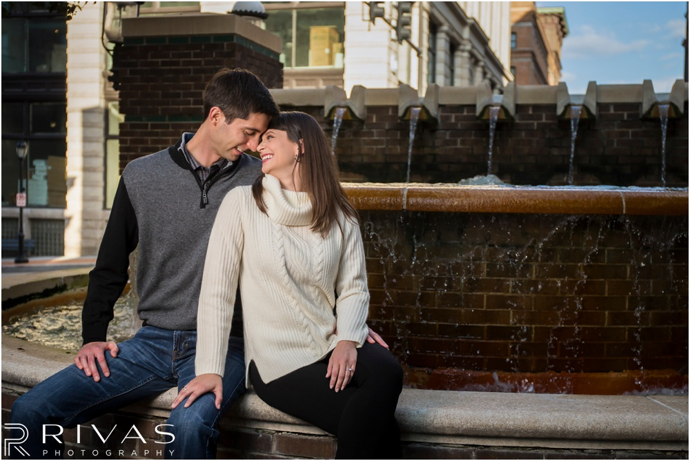 Loose Park Engagement Pictures | Timeless Garment District Engagement Session | Kansas City Wedding Photographers
