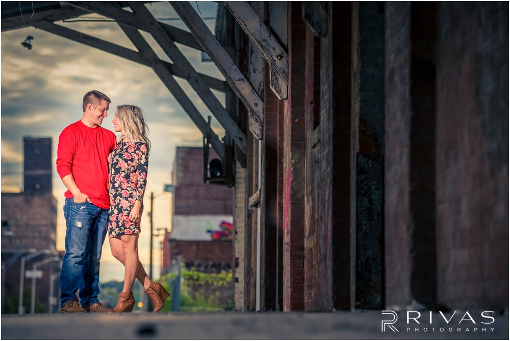 Kansas City Wedding Photography | Colorful Kansas City West Bottoms Engagement | Destination Wedding Photographers