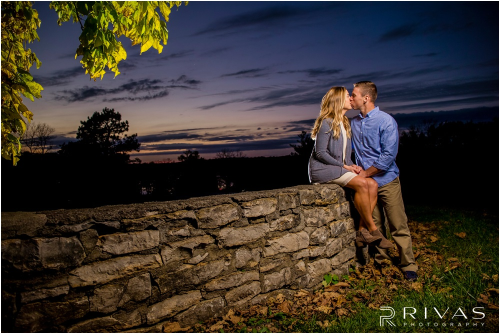 Kansas City Wedding Photographers | Shawnee Mission Park Engagement Shoot | Rivas Photography