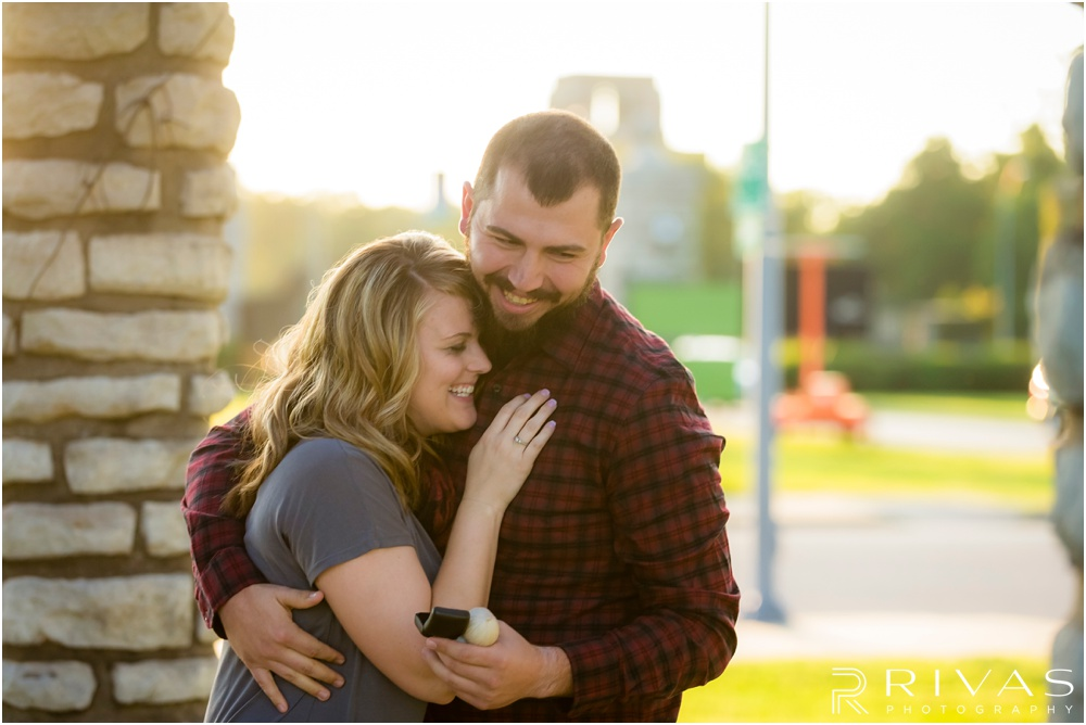 Surprise Proposal Sneak Peek | Young man in red and black plaid surprises his girlfriend by proposing marriage during a mini photo session.