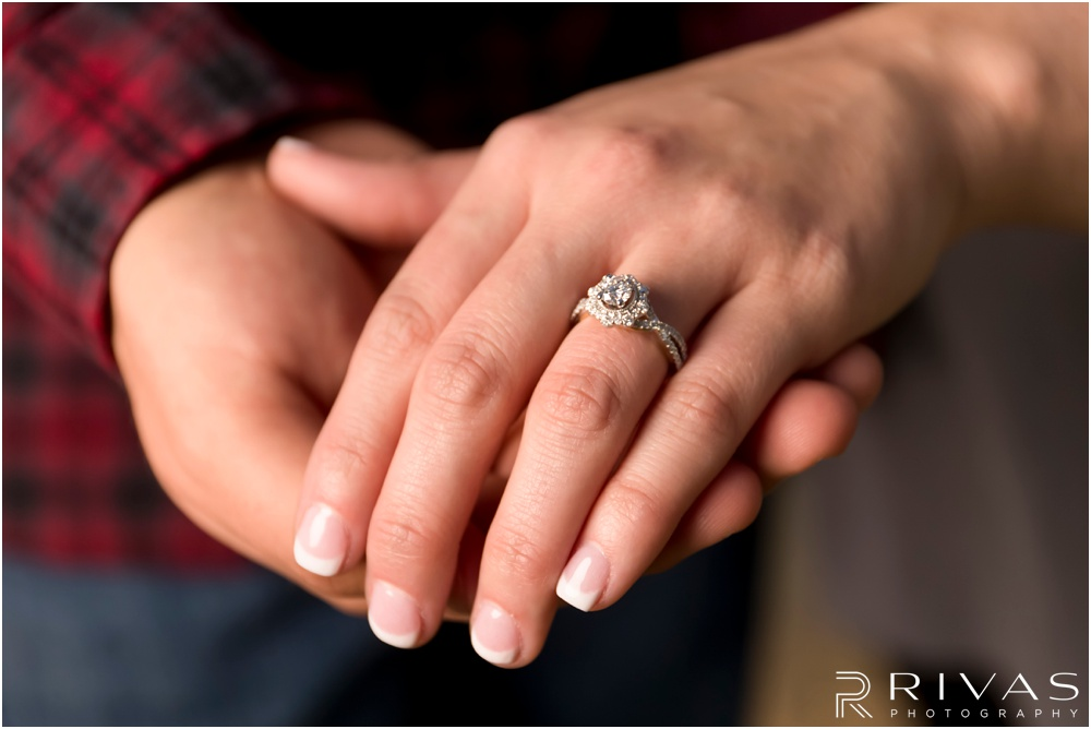 Surprise Proposal Sneak Peek | Photo of a new engagement ring just after she said yes.
