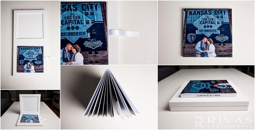 Custom Wedding Albums | Six detailed photos of a GraphiStudio Babybook.