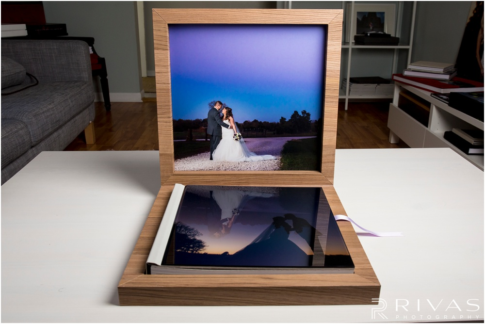 Custom Wedding Albums | Photo of a GraphiStudio Youngbook with Crystal Glance Cover in its box.