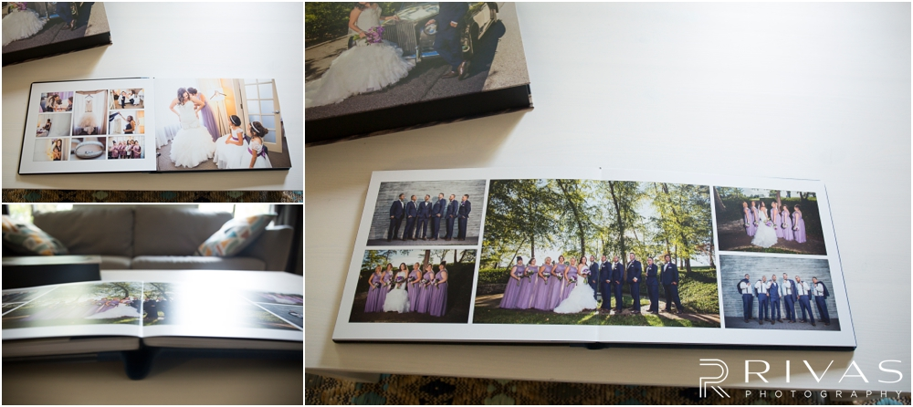 Arelys & DJ's Custom Wedding Album | A photo of a Graphistudio Original Wedding Book with crystal Glance Cover and matching Custom Image Box.