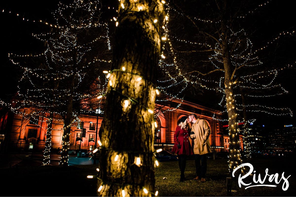 KC Winter Lights Engagement Pictures - Rivas Photography